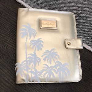 LILLY PULITZER planner agend leatherette cover NWT